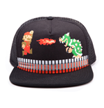 NINTENDO Super Mario Bros. Mario vs. Bowser Trucker Snapback Baseball Cap, Black