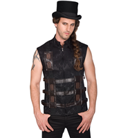 Aderlass Shelter Steampunk Vest Brocade
