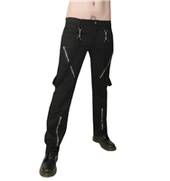 Black Pistol Punk Pants Denim