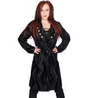 Black Pistol Military Coat Fur