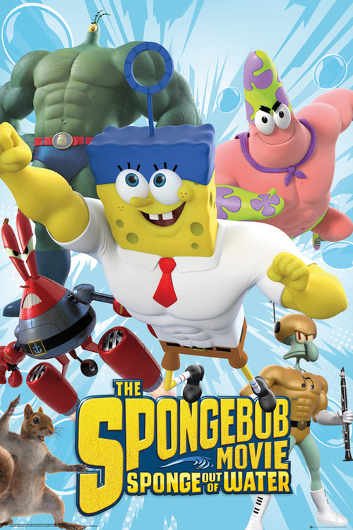 Spongebob The Movie Characters Maxi Poster