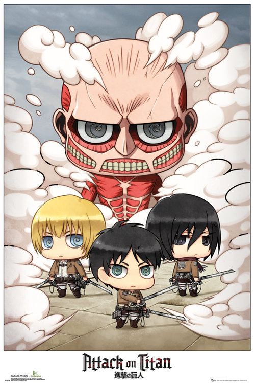 Attack on Titan Chibi Group Maxi Poster