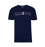 RWC 2015 Rugby 20 Nations Map Tee (Navy)
