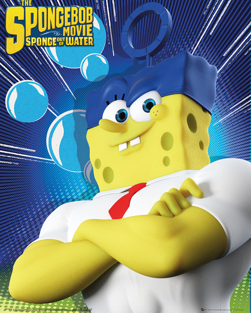 Spongebob The Movie Standing Mini Poster
