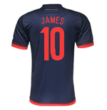 2015-2016 Colombia Adidas Away Shirt (James 10)