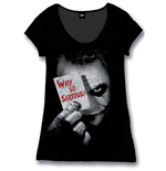 Batman Ladies T-Shirt Why So Serious