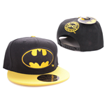 Batman Adjustable Cap Black Bat Logo Black
