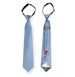 Liam Blue Flask Necktie