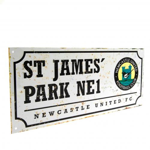 Newcastle United F.C. Retro Street Sign