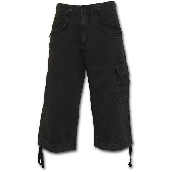 Metal Streetwear - Vintage Cargo Shorts 3/4 Long Black