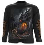 Dragon Slayer - Longsleeve T-Shirt Black