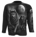 Wolf Pack Wrap - Longsleeve T-Shirt Black