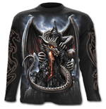 Dragon Lava - Longsleeve T-Shirt Black