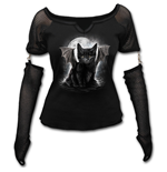 Bat Cat - Mesh Glove Long Sleeve Top