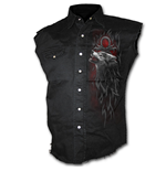 Legend Of The Wolves - Sleeveless Stone Washed Worker Black