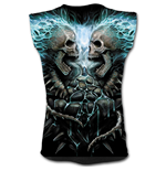 Flaming Spine - Allover Sleeveless T-Shirt Black