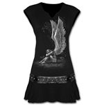 Enslaved Angel - Stud Waist Mini Dress Black