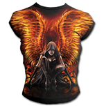 Flaming Angel - Allover Cap Sleeve Top Black