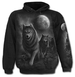 Wolf Pack Wrap - Hoody Black