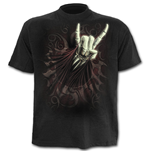 Rock Salute - T-Shirt Black