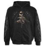 Bone Finger - Full Zip Hoody Black