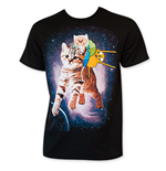 ADVENTURE TIME Riding Cat Men's Tee Shirt