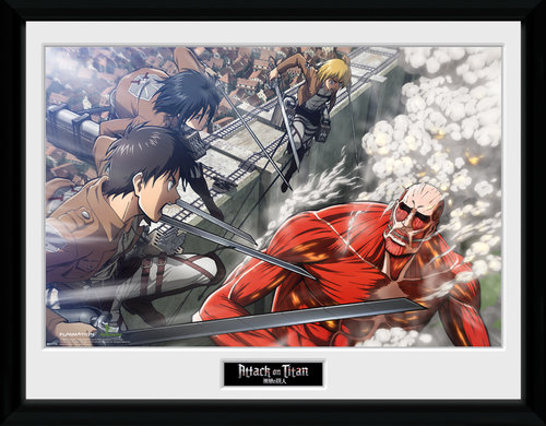 Attack on Titan Fight Scene Collector Print