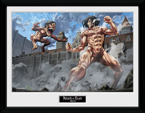 Attack on Titan Titan Fight Collector Print