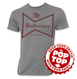 BUDWEISER Pop Top Retro Bow Tie Logo T-Shirt