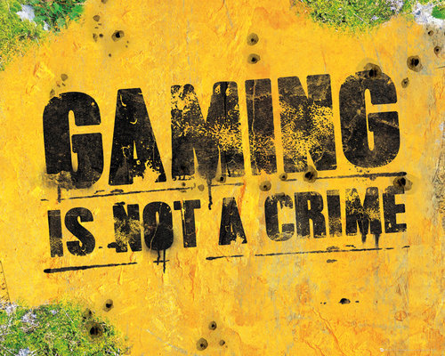 Gaming Is Not A Crime Mini Poster