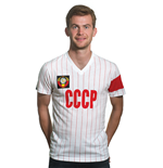 CCCP Captain V-Neck T-Shirt // White 100% cotton