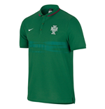 2015-16 Portugal Nike Authentic League Polo Shirt (Green)