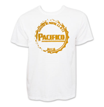 PACIFICO Men's White Bottle Cap T-Shirt