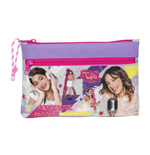 Violetta (Neon)  big pencil case with two zippers