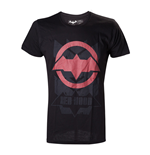 DC COMICS Batman Arkham Knight Red Hood Logo Extra Large T-Shirt, Black
