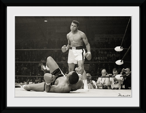 Muhammed Ali Liston Framed Collector Print