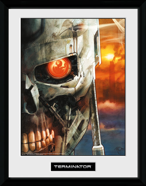 Terminator 2 Comic 2 Framed Collector Print