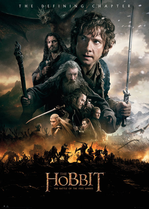 The Hobbit Battle Of Five Armies Fire Giant Poster