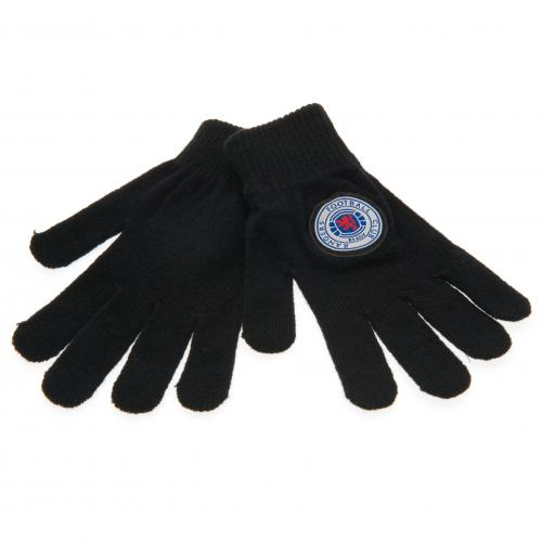 Rangers F.C Knitted Gloves Junior BLK