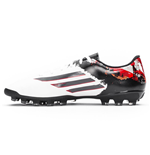 adidas Messi 10.3 Pipe De Barr AG Mens Football Boots (White-Black)