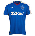 2015-2016 Rangers Home Football Shirt