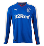 2015-2016 Rangers Home Long Sleeve Shirt