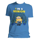 DESPICABLE ME 2 Men's 1 in a Minion T-Shirt, Medium, Blue