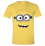 DESPICABLE ME 2 Men's Goggle Face (Daisy) T-Shirt, Extra Large, Yellow