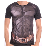 DC COMICS Men's Batman The Dark Knight Uniform Sublimation Print T-Shirt, Medium, Black