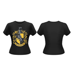 Harry Potter Ladies T-Shirt Hufflepuff Crest