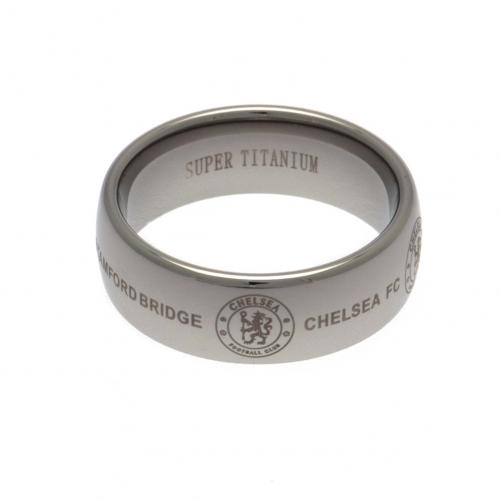 Chelsea F.C. Super Titanium Ring Small