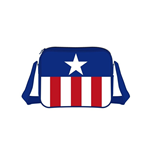 MARVEL COMICS Captain America Stars and Stripes Messenger Bag, Multi-Coloured