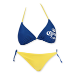 CORONA EXTRA Women's Triangle String Bottom Bikini
