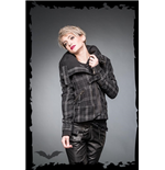 Black & Grey Tartan Jacket with Buckles